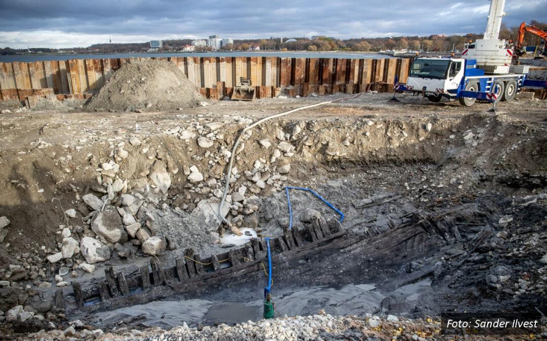 Reidi tee ehitusel avastatud laevavrakk